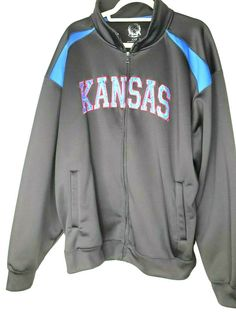 a14bdad4f41 KU Kansas Athletics Warm Up Jacket Size 2XL Kansas Jayhawks Full Zip KU  CD