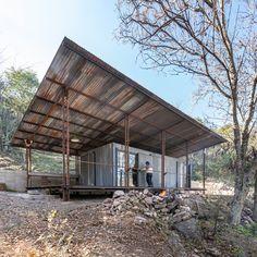 Oil Pipe, Timber Cabin, Off Grid Cabin, Built In Furniture, Refuge, Wooden Cabins, Forest Floor, Metal Panels, Dezeen