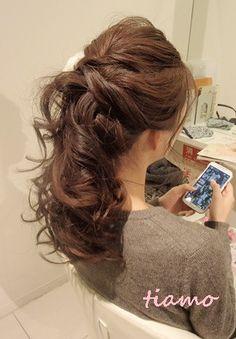 可愛い花嫁さまの素敵チェンジ3スタイル♡リハ編   大人可愛いブライダルヘアメイク『tiamo』の結婚カタログ