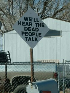 Eccentric road sign. In Armarillo, Texas, lives the abnormal millionaire philanthropist, Stanley Marsh, who's fond of creating mock road signs throughout the town, which sometimes a vulgar term, sometimes quaint poem,bl but rarely any actual traffic direction.