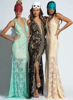 Jovani lace floor length gown