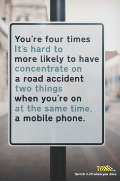 This ad is a great one because unless you know what you're reading, you will trip over the words and not understand what it's saying until you take a step back and look at it proving their point exactly. Even though this ad has more than two lines of text like so many today it is still done well. The text is well contrasted with the simple background making the words stand out.