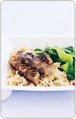 Sticky Pork Skewers Protein Dinners, High Protein Dinner, Sticky Pork, Pork Skewers, Healthy Food, Healthy Recipes, Family Meals, Cooking Recipes, Favorite Recipes