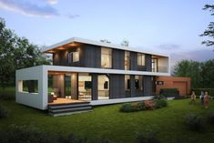 Passive House Kelowna: Stylish Modern Single Family Residence aiming to become the certified Passive House in the Okanagan Region – Passive Green Small House Floor Plans, House Plans, Passive House Design, Modern Windows, Home Builders, Planer, Building A House, Building Permit, Beautiful Homes