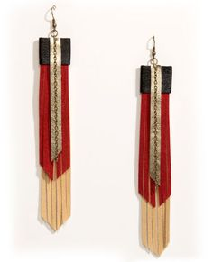 http://www.lulus.com/products/claire-fong-arizona-skies-fringe-leather-earrings/55954.html
