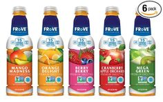 FrUve Smoothie Variety 6 Pack Non-GMO Gluten Free and No Sugar Added