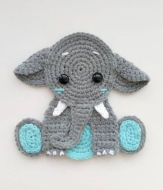 Instant download - !!! This listing is only a PDF PATTERN, not a finished product !!! ★★★★★★★★★★★★★★ This is applique crochet pdf pattern to personalize your baby knitted clothes, blankets ... everything that comes to mind. Use your imagination! ★★★★★★★★★★★★★★ All patterns