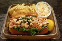 The Lobster Place - tarragon shrimp roll ($7.95): sweet shrimp, chopped and tossed with fresh tarragon, capers, cornichons, mayonnaise, chives, parsley