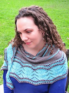 My grandfather was born in Knocknagree, a small village located in the north-west of County Cork, Ireland, just a mile from the Cork-Kerry border. This crescent-shaped shawl was inspired by the rural, lush, country village.