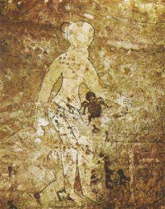 Ancient rock painting.