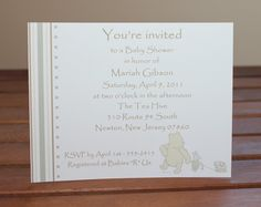 Classic Winnie the Pooh Baby Shower by MemorableOccasions on Etsy, $35.00