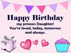 70 Happy Birthday Wishes For Daughter - WishesMsg Happy Birthday Daughter Wishes, Birthday Message For Daughter, Happy Birthday Wishes Messages, Birthday Cards For Girlfriend, Birthday Wishes For Sister, Birthday Wishes And Images, Birthday Blessings, Birthday Sentiments, Happy Birthday Massage