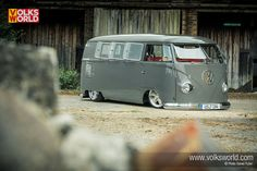 1959 VW split Window Bus Van Slammed Lowered #VW