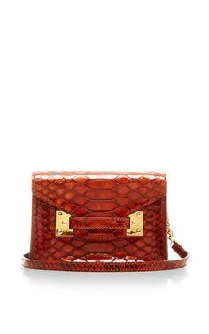 Milner Nano Envelope Bag In Snake by Sophie Hulme for Preorder on Moda Operandi Fall Handbags, Stylish Handbags, Fashion Handbags, Purses And Handbags, Ladies Handbags, Backpack Purse, Beautiful Bags, Small Bags, Sophie Hulme