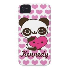 Panda Hearts iPhone 4 Cases