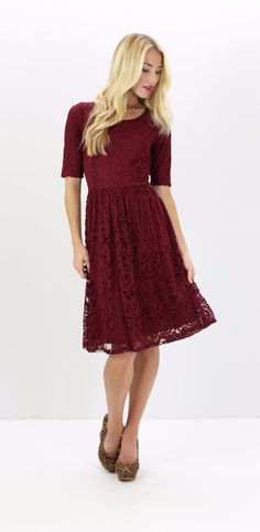 Samantha Dress - Deep Red
