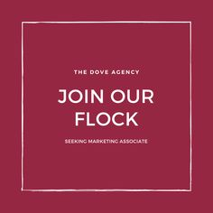 We are searching for a talented and driven marketing associate to join our team of Doves. Click the link to learn more.