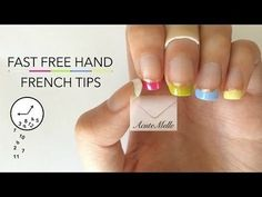 Fast Freehand French Tips #TUTORIAL #howto #nailart - bellashoot.com