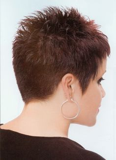 Dark Red Short Textured Pixie
