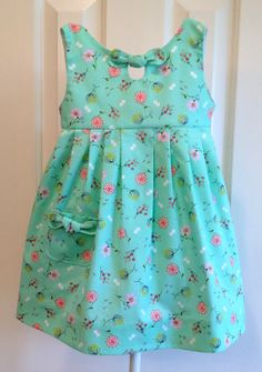 """The Maddie Lou Dress, GIRLS DRESS PATTERN, PHOTO TUTORIAL, digital pattern,                              a """"pleat placement"""" guide is included making the marking of each pleat super easy!"""