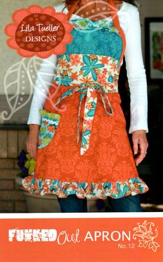 Lila Tueller Funked Out Apron Pattern No 12 by CottonBlossomFarm, $9.00