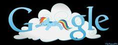 Rainbow Dash sleeping on claud Google
