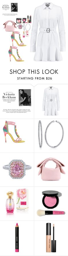 """""""Wearing Summer White"""" by mahoganybeautiful ❤ liked on Polyvore featuring Victoria Beckham, Chinese Laundry, BERRICLE, Simone Rocha, Annick Goutal and Bobbi Brown Cosmetics"""