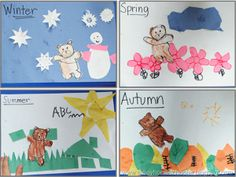 Bear in 4 Seasons (based on Jesse Bear, What Will You Wear?) from The Pinay Homeschooler