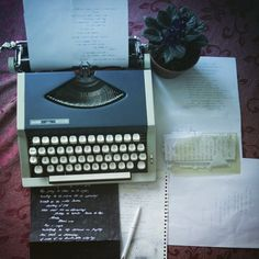 It's my typewriter, and a flower It's staying there, waiting I to write and to dance in the room..