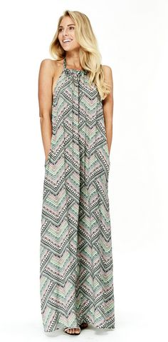 Love Stitch Halter Maxi Dress - Can't beat this dress with pockets!! #wildebelleboutique FREE Shipping over $100!