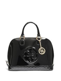 Amy Quattro G Patent Dome Satchel at Guess