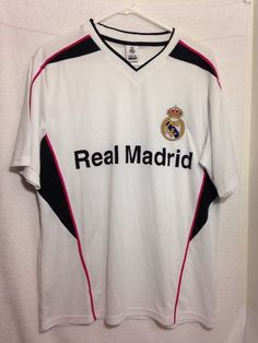 Real Madrid FC Jersey, Mens Large, Licensed Official, Soccer Football Shirt #RealMadrid #RealMadrid