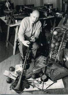 Jean Dubuffet, 1961, photographié par Jean Weber