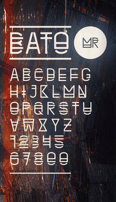 TYPE / BATO by atelier olschinsky , via Behance