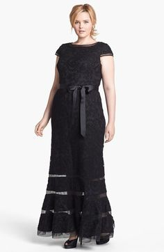 Adrianna Papell Embroidered Lace Gown (Plus Size) available at #Nordstrom