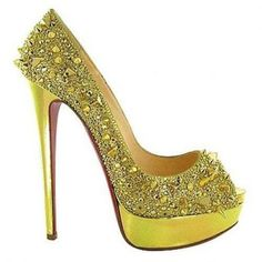 louboutin evening oro