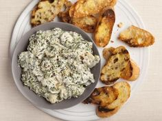 Alton Brown's Hot Spinach and Artichoke Dip  #Thanksgiving #ThanksgivingFeast #Apps #Appetizers