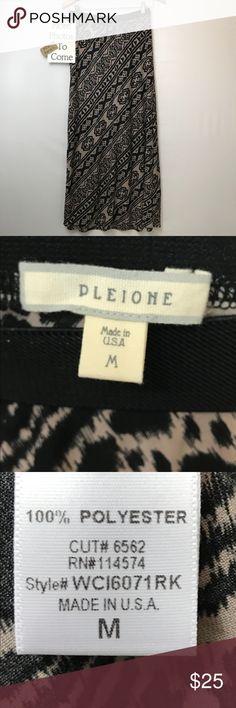 "Pleione Tribal Design Maxi Skirt EUC Approx. 40"" long Pleione Skirts Maxi"