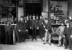 """""""The San Francisco Police Department's notorious Chinatown Squad, formed to combat opium dens, gambling halls, brothels, etc. Note the sledgehammers! (1895)"""""""