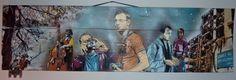 JANA UND JS Sans titre - 2009 Spray et acrylique sur panneau de bois Dimensions : 30 x 106 cm Double signature : R/V