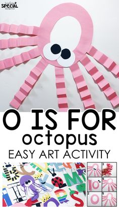 Task Shakti - A Earn Get Problem Letter O Craft O Is For Octopus Easy Art Letter Craft For Students With Special Needs Or An Early Childhood Pre-School Classroom To Work On Fine Motor Tasks And Step-By-Step Visual Directions Preschool Letter Crafts, Alphabet Letter Crafts, Abc Crafts, Preschool Projects, Daycare Crafts, Classroom Crafts, Preschool Art, Toddler Crafts, Preschool Activities