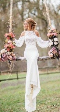 cool 48 Unique Long Sleeve Wedding Dress Ideas to Makes You Look Different  http://viscawedding.com/2017/12/22/48-unique-long-sleeve-wedding-dress-ideas-makes-look-different/