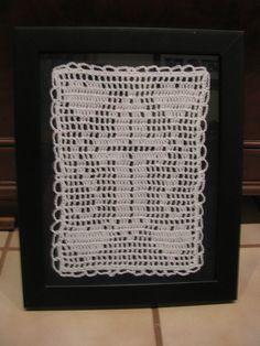 filet crochet cross - my design for a Christmas gift