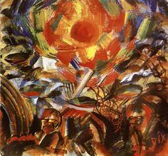 Otto Dix, Abensonne (Ypern) [Evening Sun (Ypres)], 1918