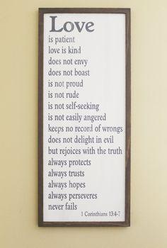 Love is patient love is kind 1 Corinthians 13 by CountryWorkshop