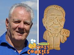 A 70th birthday is something to celebrate. Honor the birthday boy with Parker's Crazy Cookies of him. These personalized party favors are always the hit of the party!!