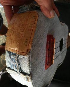 "DAISY DUKE UKE 10th ANNIVERSARY! Celebrating the 10th anniversary of Ukulele Ray's ""Pocket-Lele"" creation of the world-famous Levi's 501k Daisy Duke Uke with Redneck and Toothpick Saddle, complete with label, button-fly and rear pocket... a country boy's ukulele dream!"