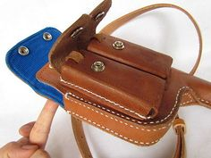 WWII GERMAN MAUSER C96 BROOMHANDLE LEATHER HOLSTER -2169