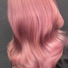 Wella Professionals warm pink hair Silver Toner, Color Me Badd, Work Hairstyles, Crazy Colour, Loose Waves, Warm Colors, Pink Hair, Hair Color, Long Hair Styles