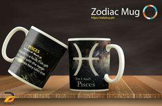 Customised Mugs, Novelty Mugs, Black Backgrounds, Horoscope, Zodiac Signs, Conversation, Personality, Tableware, Unique